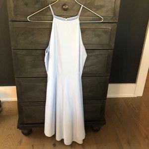 JOA blue halter dress
